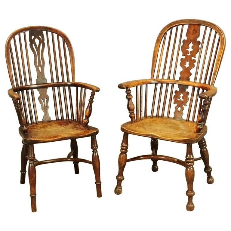 Two 19th Century English Windsor Dining Armchairs, Sold In Latest Ragsdale Armchairs (View 20 of 30)