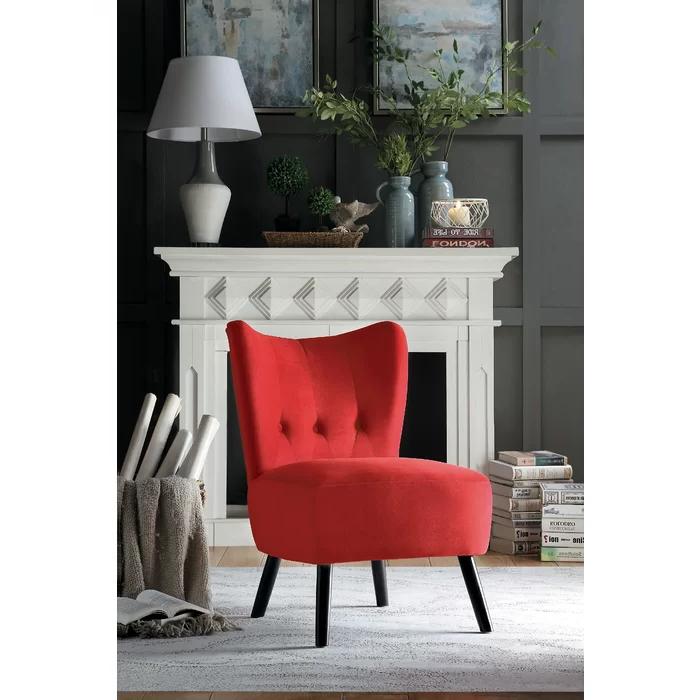 Velvet Accent Chair Regarding Popular Easterling Velvet Slipper Chairs (View 3 of 30)