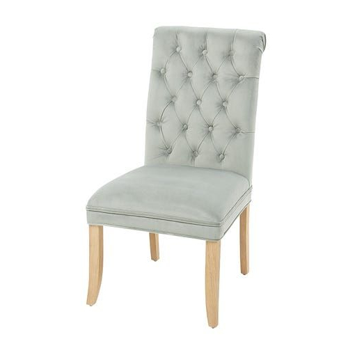 Velvet Dining Chairs With Regard To Favorite Aime Upholstered Parsons Chairs In Beige (View 20 of 30)