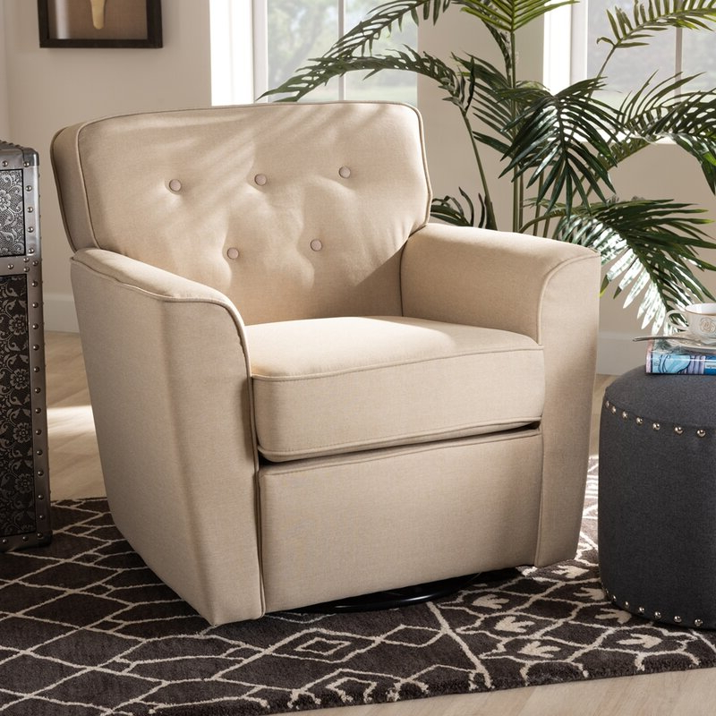 Vineland Polyester Swivel Armchairs Inside Well Known Fabric Swivel Armchair (View 20 of 30)