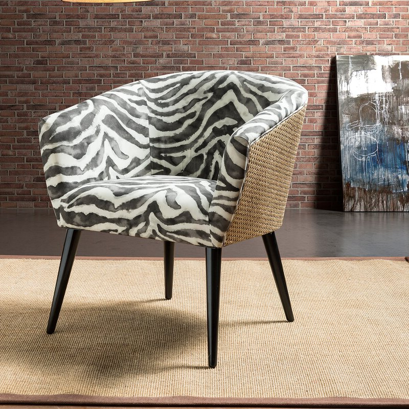 Vivere Barrel Chair Pertaining To Favorite Briseno Barrel Chairs (View 5 of 30)