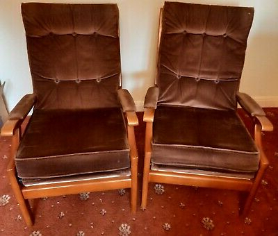 Wainfleet Armchairs Throughout Famous Vintage Cintique Chair With Refurbished Seat Pads – £ (View 21 of 30)
