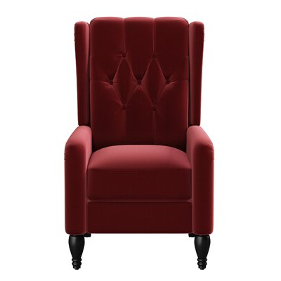 """Waupaca 19"""" Manual Recliner – Wayfair Inside Preferred Liston Faux Leather Barrel Chairs (View 30 of 30)"""