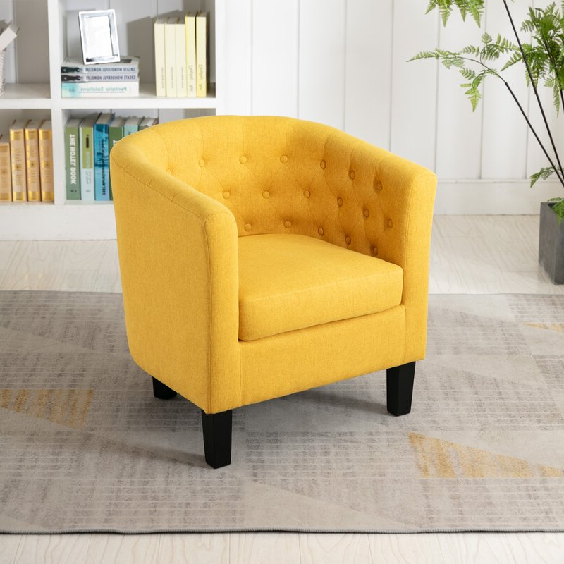 Featured Photo of Alwillie Tufted Back Barrel Chairs