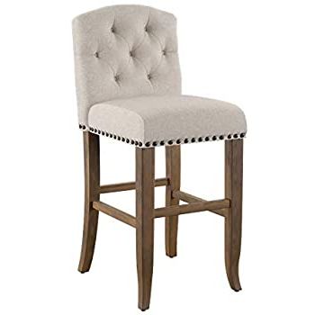 Well Known Amazon: Furniture Of America Liston Rustic Linen Fabric Within Liston Faux Leather Barrel Chairs (View 18 of 30)