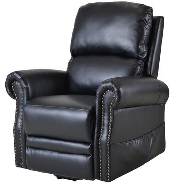 Well Known Aryion Faux Leather Power Lift Assist Recliner Leather Type: Black For Ansar Faux Leather Barrel Chairs (View 17 of 30)