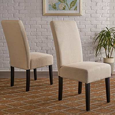 Well Known Christopher Knight Home Pertica Fabric Dining Chair, Beige For Aime Upholstered Parsons Chairs In Beige (View 18 of 30)