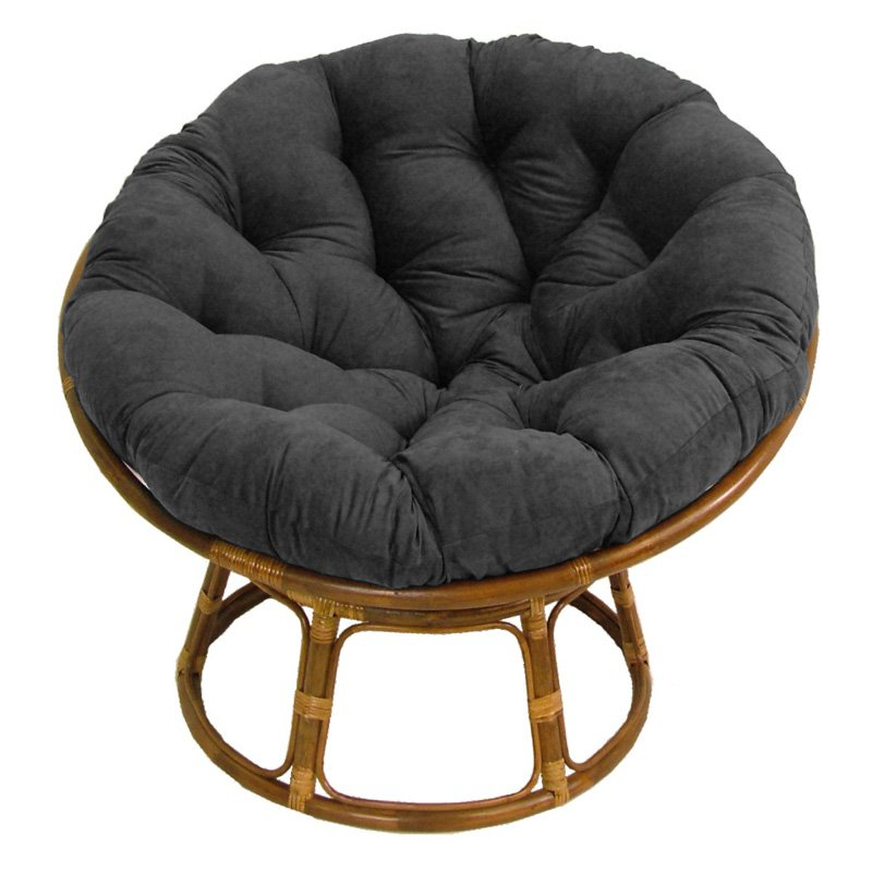 Well Known Decker Papasan Chairs Throughout International Caravan Papasan Chair With Solid Micro Suede Cushion – 42 In (View 10 of 30)