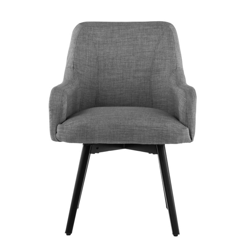 Well Known Draco Pair Of Upholstered Swivel Arm Chairs – Light Gray For Draco Armchairs (View 10 of 30)