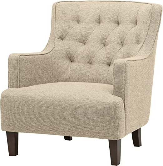 Well Known Gallin Wingback Chairs Regarding Amazon Brand – Stone & Beam Decatur Modern Tufted Wingback Living Room Accent Chair, (View 6 of 30)