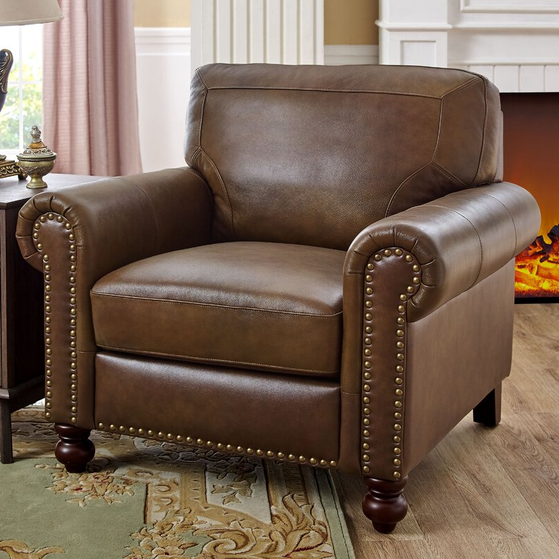 """Well Known Garr 41"""" W Leather Match Armchair With Cohutta Armchairs (View 5 of 30)"""