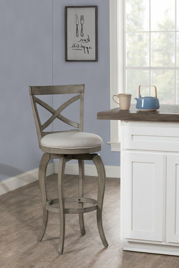 Well Known Goodyear Slipper Chairs Regarding Juelz Bar & Counter Swivel Stool (View 13 of 30)
