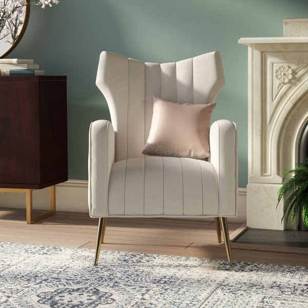 Well Known Lauretta Velvet Wingback Chairs In Lauretta (View 3 of 30)