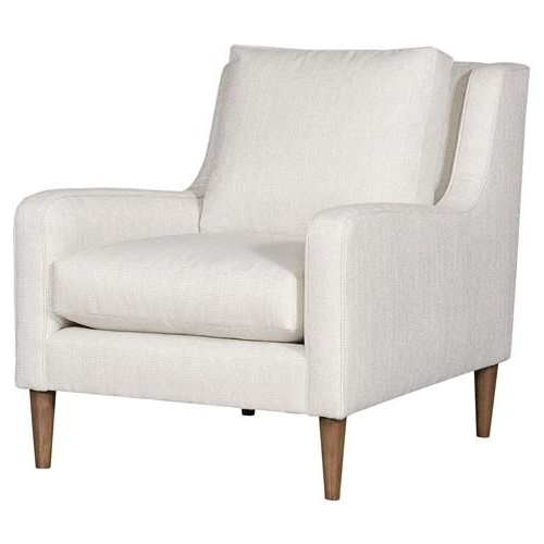 Well Known Leppert Armchairs With Vanguard Josie Modern Classic White Upholstered Arm Chair In (View 5 of 30)