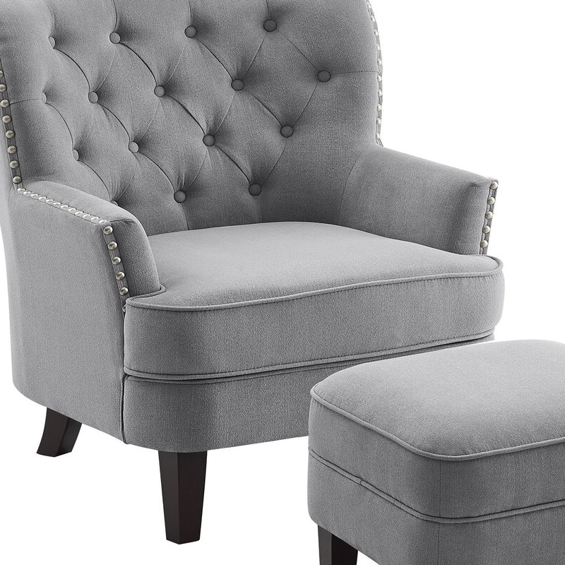 "Well Known Michalak Cheswood Armchairs And Ottoman Intended For Michalak Cheswood 23"" Armchair And Ottoman (View 9 of 30)"