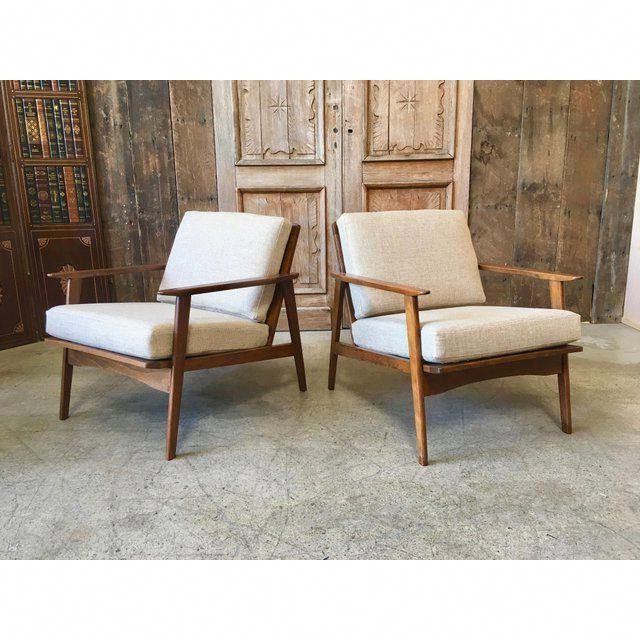 Well Known Mid Century Lounge Chairs – A Pair – Image 2 Of 12 Regarding Caldwell Armchairs (View 12 of 30)