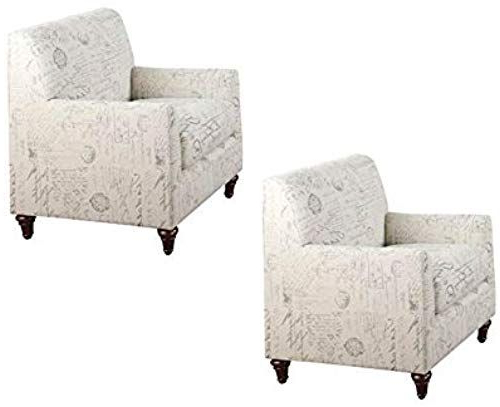 Well Known New Home Square (set 2) Accent Arm Chair White Script Online In Nadene Armchairs (View 21 of 30)