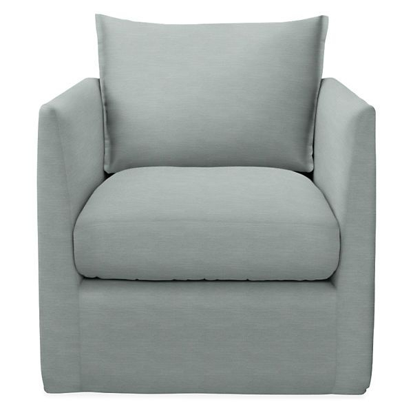 Well Known Palm Swivel Chair – Modern Outdoor Chairs & Chaises – Modern For Munson Linen Barrel Chairs (View 19 of 30)