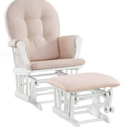 Well Known Riverside Drive Barrel Chair And Ottoman Sets Regarding Kids Small Recliner Chair Rocker Glider Nursery White Wood (View 23 of 30)