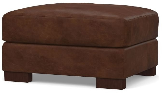 Well Known Turner Leather Ottoman For Chaithra Barrel Chair And Ottoman Sets (View 30 of 30)