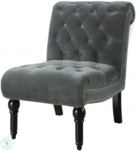 Well Known Twine Slate Gray Armless Chair Regarding Harland Modern Armless Slipper Chairs (View 14 of 30)