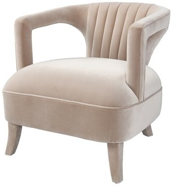 "Well Liked Adepoju 29"" W Polyester Armchair Inside Artressia Barrel Chairs (View 6 of 30)"