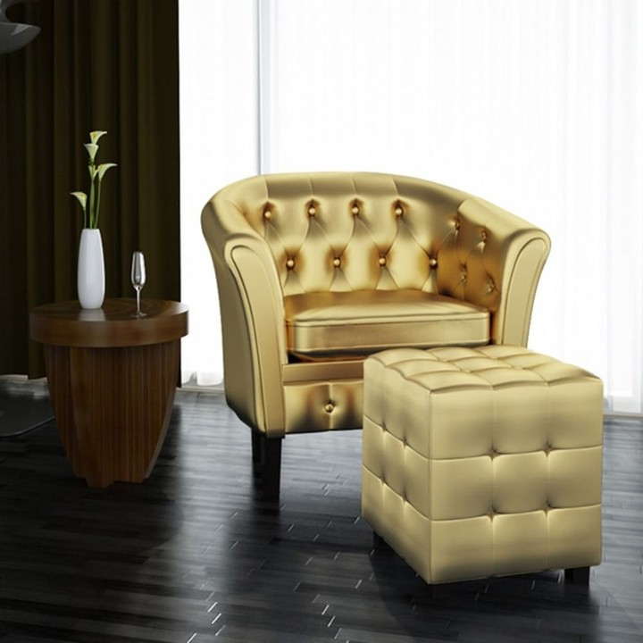 Well Liked Bethine Polyester Armchairs (set Of 2) Regarding Overstock Vidaxl Tub Chair Brown Faux Leather (View 29 of 30)