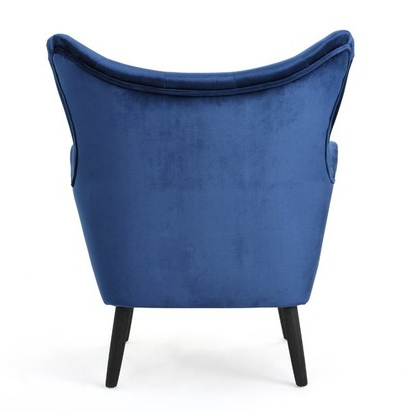 Well Liked Bouck Wingback Chair – Navy Blue – Blueprint Within Bouck Wingback Chairs (View 15 of 30)