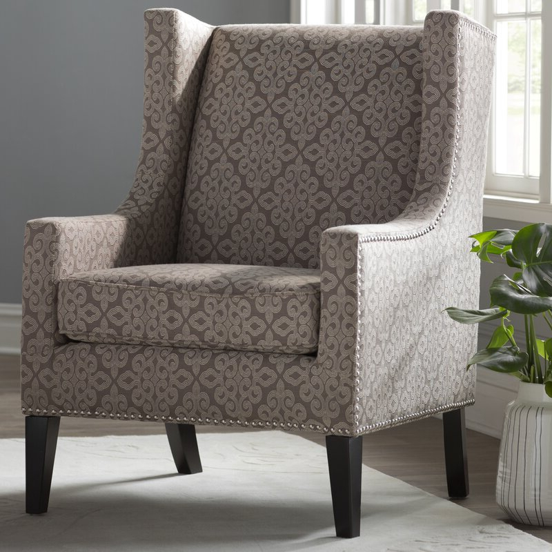 Well Liked Chagnon Wingback Chairs In Chagnon Wingback Chair (View 13 of 30)
