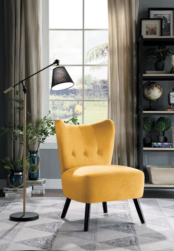 Well Liked Easterling Velvet Slipper Chairs Inside Easterling Velvet Slipper Chair (View 2 of 30)