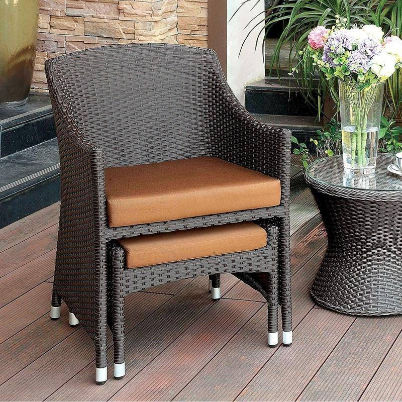Well Liked Furniture Of America Almada Espresso Wicker Frame Patio Throughout Almada Armchairs (View 8 of 30)