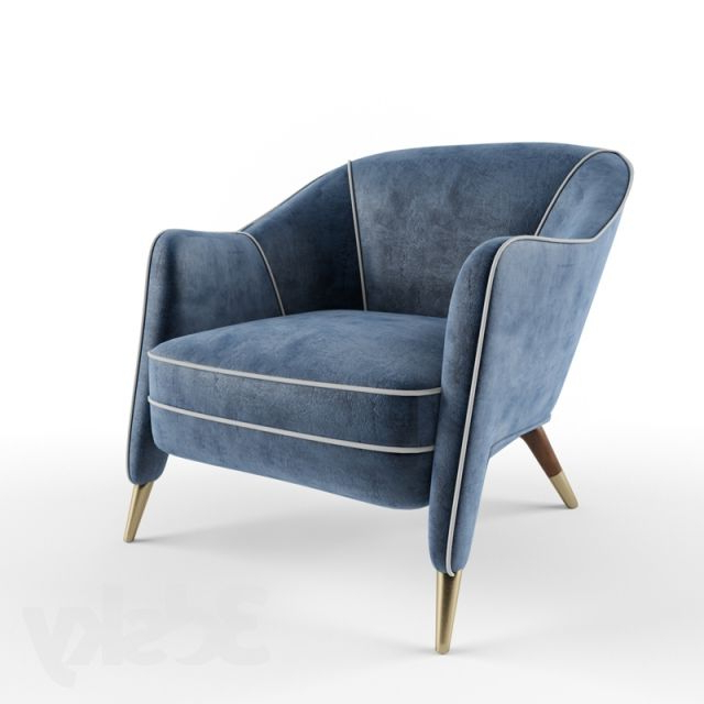 Well Liked Haleigh Armchairs Intended For 3d Models: Arm Chair – Gio Ponti Unique Armchair (View 16 of 30)