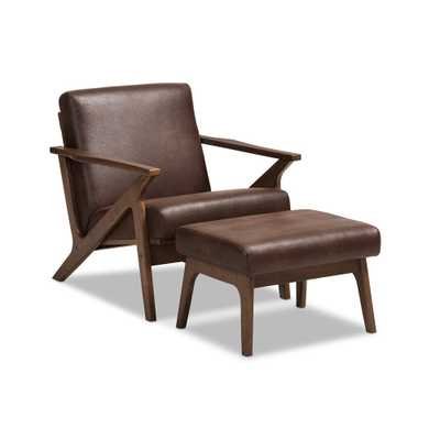 Well Liked Jarin Faux Leather Armchairs Pertaining To Midcentury Modern Room Designhavenly Interior Designer Karen (View 29 of 30)