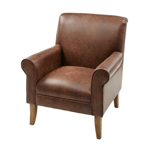 Well Liked Marisa Faux Leather Wingback Chairs In Leather Accent Chair – Fabric Options (View 5 of 30)