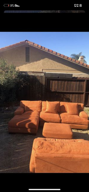 Well Liked New And Used Chair With Ottoman For Sale In Modesto, Ca In Lucea Faux Leather Barrel Chairs And Ottoman (View 11 of 30)
