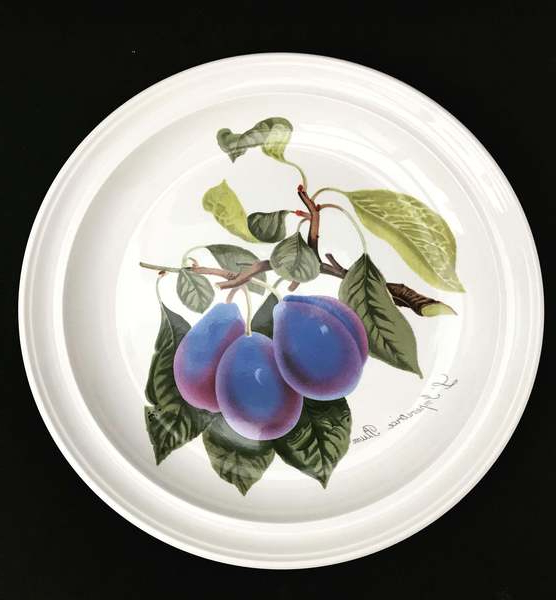 Well Liked Portmeirion Pomona Vintage Dinner Plate Or Cake Plate Plum Cherries Grapes Gooseberries Gift Collector Service Plate Grimwoods Royal George (View 16 of 30)