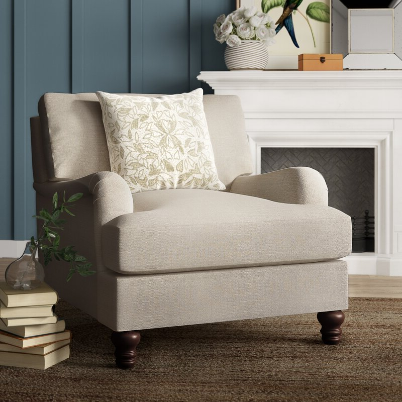 Well Liked Samuel Armchair Intended For Ronald Polyester Blend Armchairs (View 18 of 30)