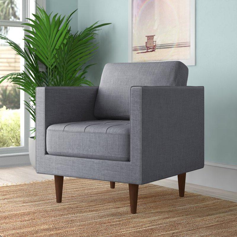 "Wicksham 33"" W Polyester Blend Armchair Intended For Preferred Polyester Blend Armchairs (View 12 of 30)"