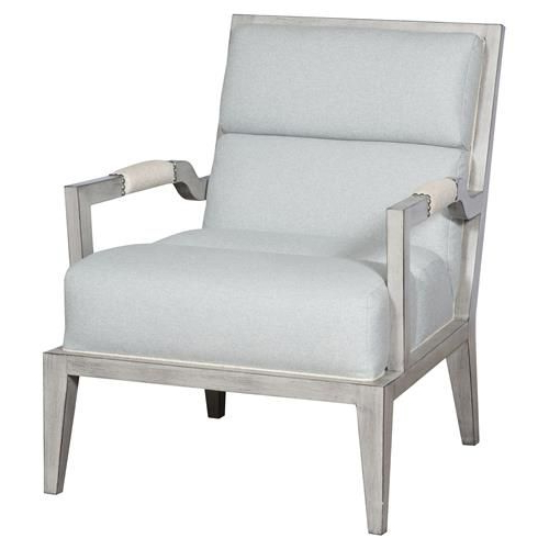 Widely Used Armory Fabric Armchairs Intended For Thom Filicia Armory Coastal Cloud Blue Square Back Dove Grey (View 8 of 30)