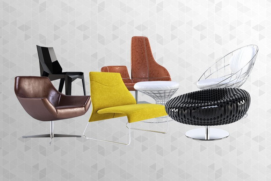 Widely Used Free 3d Models – Armchairs V2 – Viz People For Popel Armchairs (View 9 of 30)