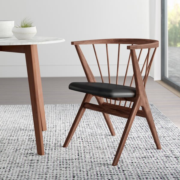 Widely Used Graham Solid Wood Dining Chair Inside Filton Barrel Chairs (View 20 of 30)