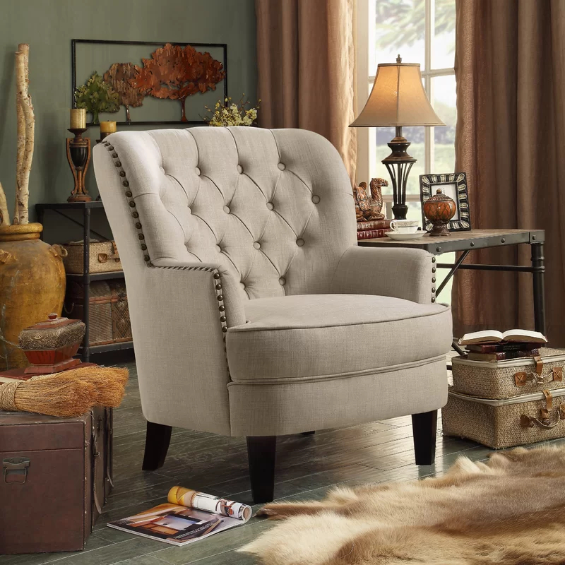 Widely Used Lenaghan Wingback Chairs Pertaining To Accent Chairs – Vozeli (View 17 of 30)
