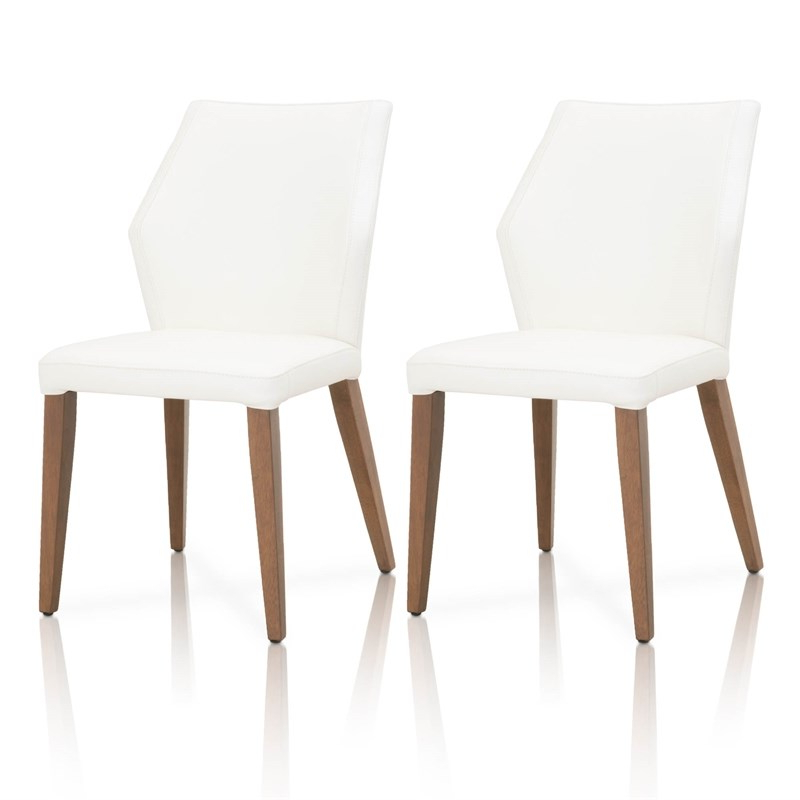 Widely Used Liston Faux Leather Barrel Chairs With Oslo Leather Dining Side Chair In Alabaster (set Of (View 16 of 30)