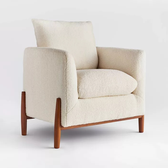 Widely Used Oglesby Armchairs Regarding Elroy Sherpa Accent Chair With Wood Legs Cream – Threshold (View 11 of 30)