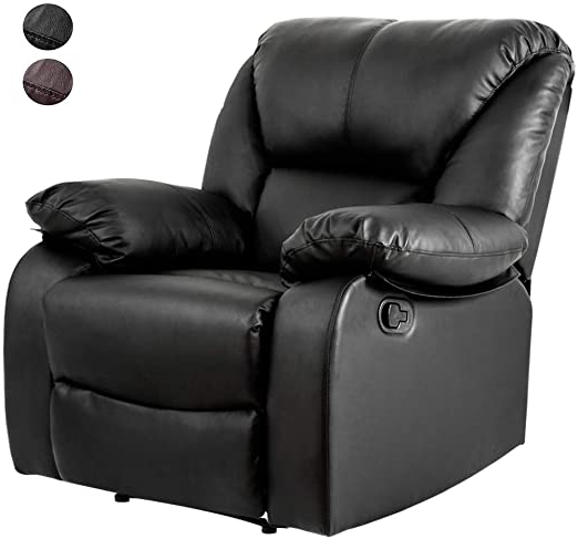 Widely Used Reynolds Armchairs Intended For Life Carver Reclining Chair Leather Padded Ergonomic Comfort Home Lounge Recliner Armchair(black) (View 28 of 30)