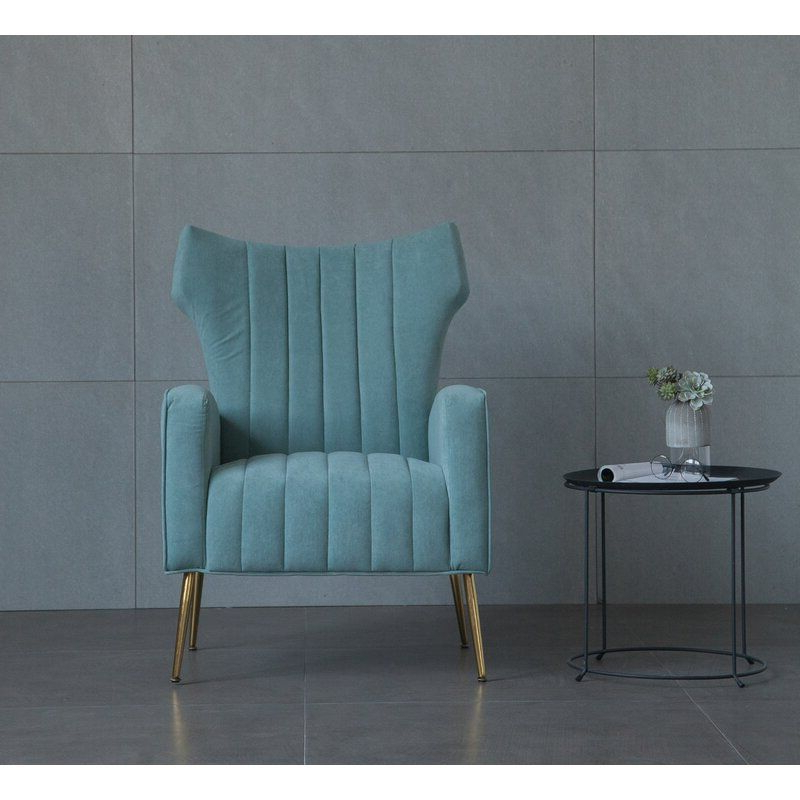 Wingback Chair, Chair, Velvet Regarding Lauretta Velvet Wingback Chairs (View 4 of 30)