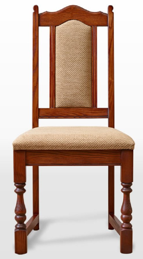 Wood Bros Old Charm Dining Chair Harris Tweed Fabric With Most Current Carlton Wood Leg Upholstered Dining Chairs (View 24 of 30)