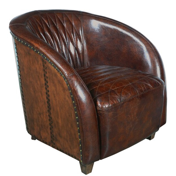 Woven Leather Chair Regarding Most Recent Ansar Faux Leather Barrel Chairs (View 10 of 30)