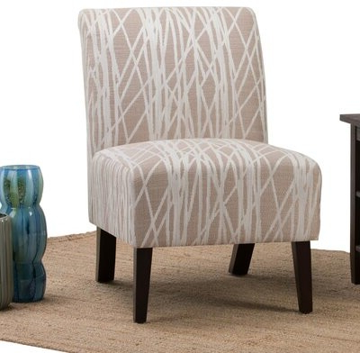 Wrought Studiotm Midhurst Slipper Chair Wrought Studio Fabric: Beige / White Polyester Blend Throughout Latest Alush Accent Slipper Chairs (set Of 2) (View 10 of 30)