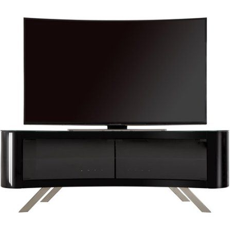 """2019 Avf Bay Curved Tv Stand For Tvs Up To 70 Inch, Black With Regard To Lederman Tv Stands For Tvs Up To 70"""" (View 29 of 30)"""